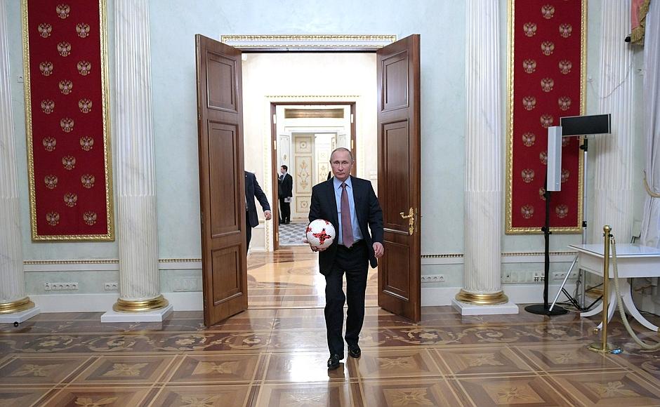 Встреча спрезидентом ФИФА Джанни Инфантино
