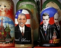 Матрешки - Обама, Медведев, Путин